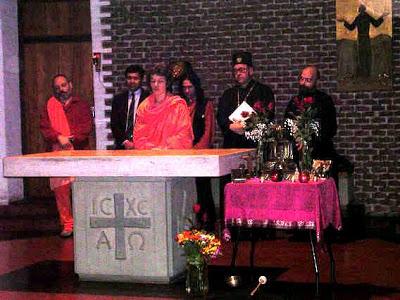 Orando sobre el altar